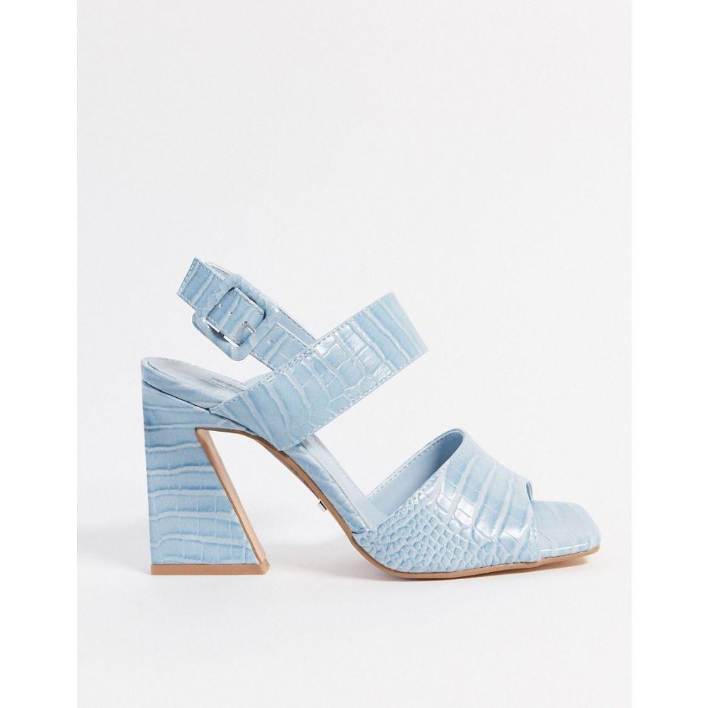トップショップ Topshop レディース サンダル・ミュール シューズ・靴【heeled sandals in light blue】Blue