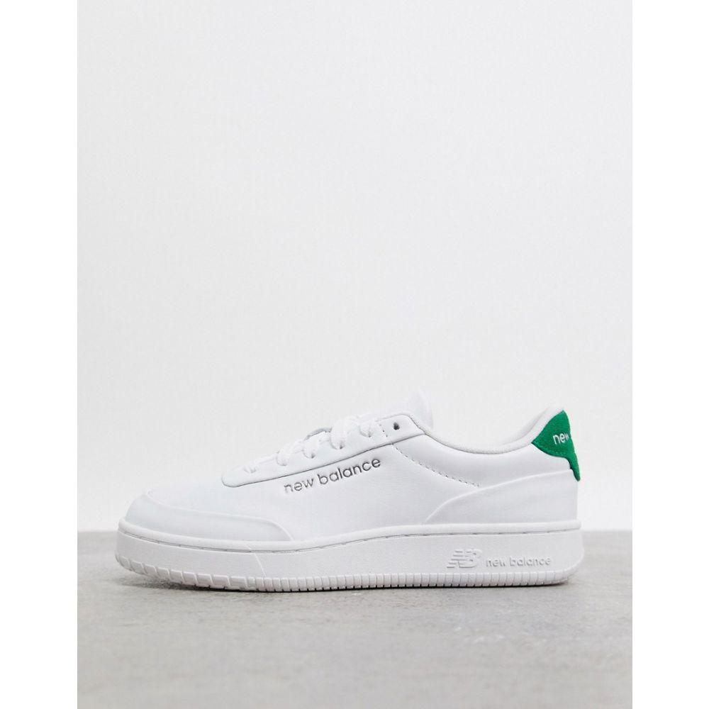 ニューバランス New Balance レディース スニーカー シューズ・靴【CTALY trainers in white and green】White