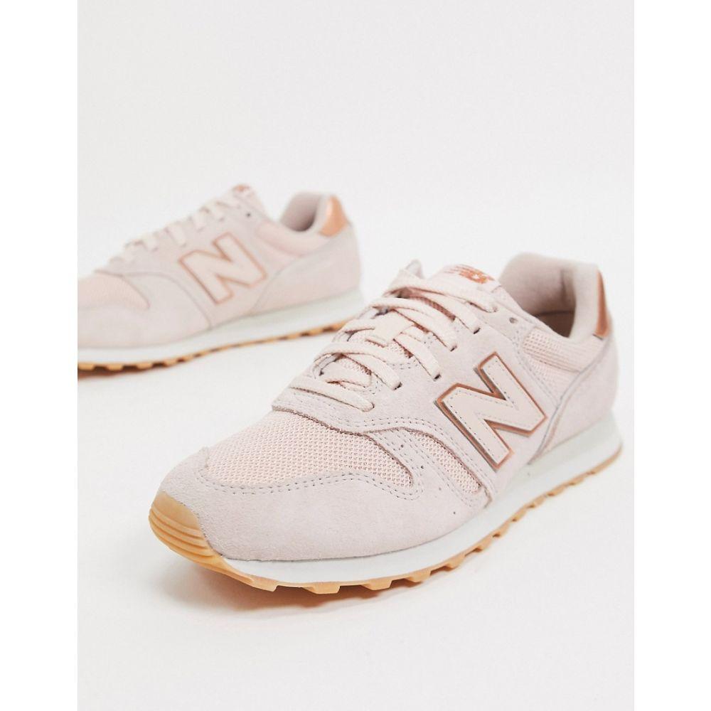 ニューバランス New Balance レディース スニーカー シューズ・靴【373 trainers in pink and rose gold】Rose gold