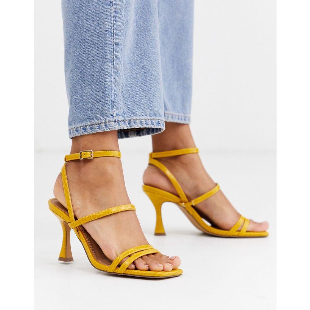 エイソス ASOS DESIGN レディース サンダル・ミュール シューズ・靴【Hailee mid-heeled sandals in mustard】Mustard