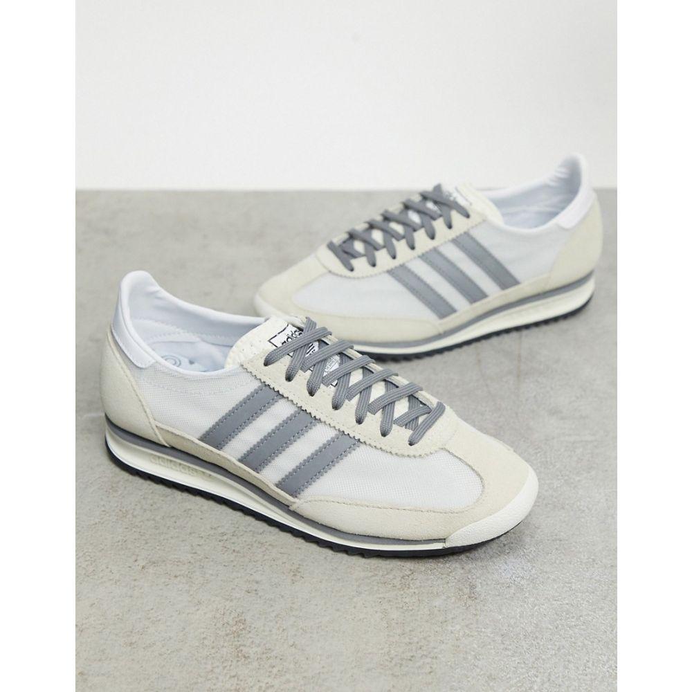 アディダス adidas Originals レディース スニーカー シューズ・靴【SL 72 trainers in white and grey】Grey