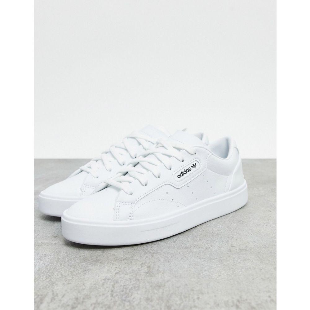 アディダス adidas Originals レディース スニーカー シューズ・靴【Vegan Sleek trainers in white】White