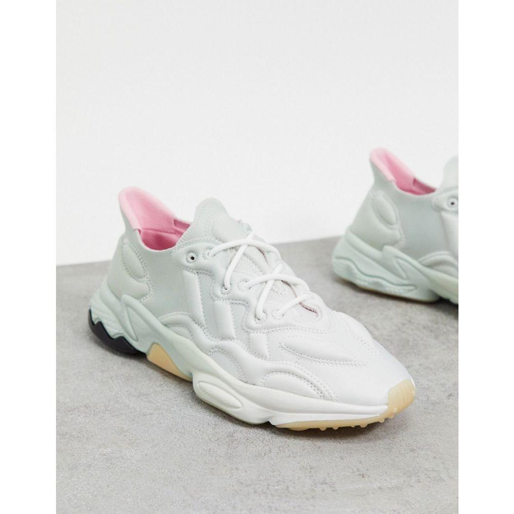アディダス adidas Originals レディース スニーカー シューズ・靴【Ozweego 3-D trainers in crystal white ash silver & true pink】White silver/pink