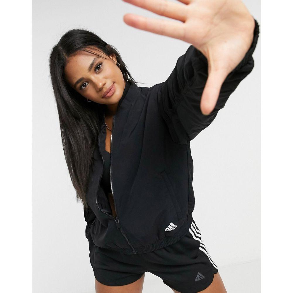 アディダス adidas レディース ブルゾン ミリタリージャケット アウター【woven bomber jacket in black】Black