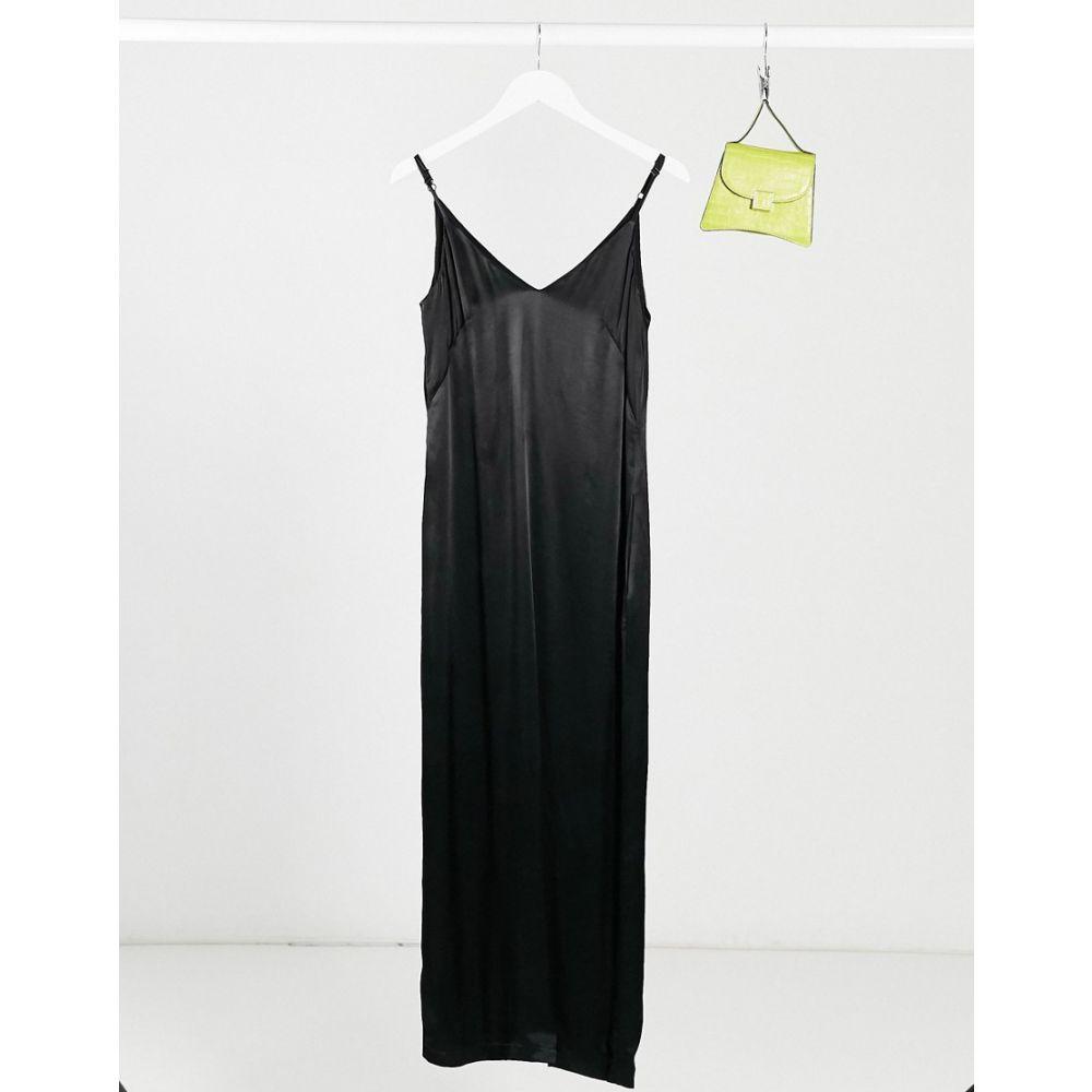 ファインリー Finery レディース ワンピース スリップドレス ワンピース・ドレス【Thayer Satin Slip Dress】Black