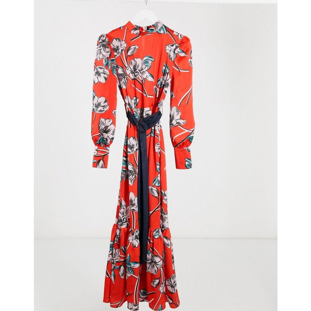 リカリッシュ Liquorish レディース ワンピース マキシ丈 ワンピース・ドレス【drop hem maxi dress in red floral】Red floral
