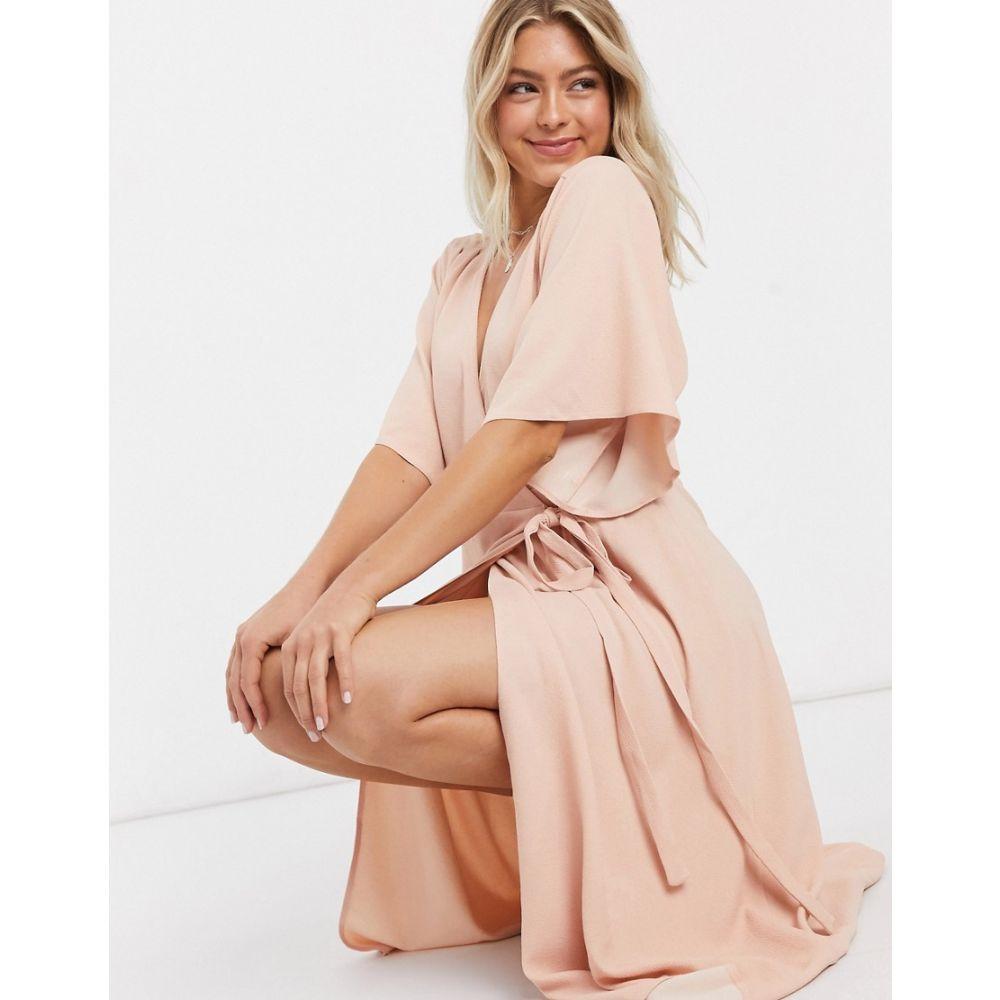 リカリッシュ Liquorish レディース ワンピース ラップドレス ワンピース・ドレス【wrap dress in pink】Pink