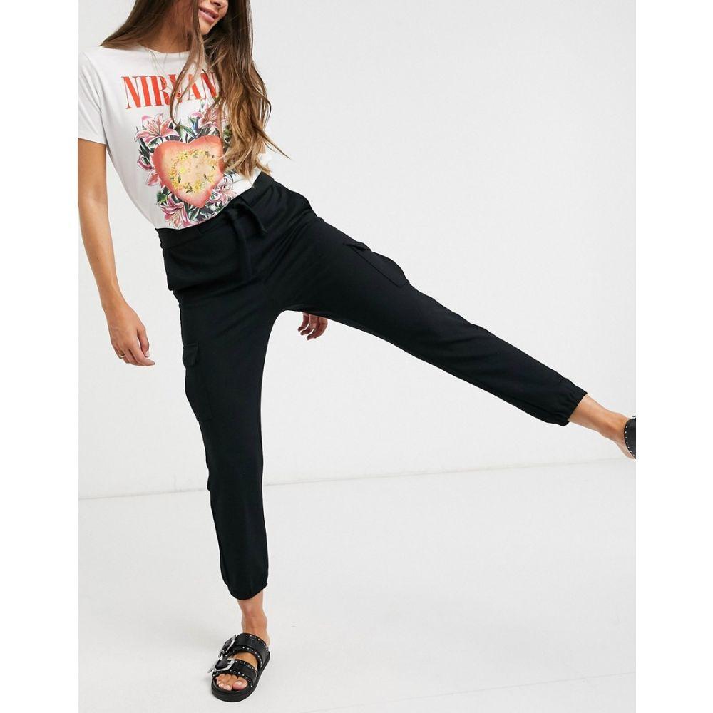 オンリー Only レディース カーゴパンツ ボトムス・パンツ【cargo trousers in black】Black
