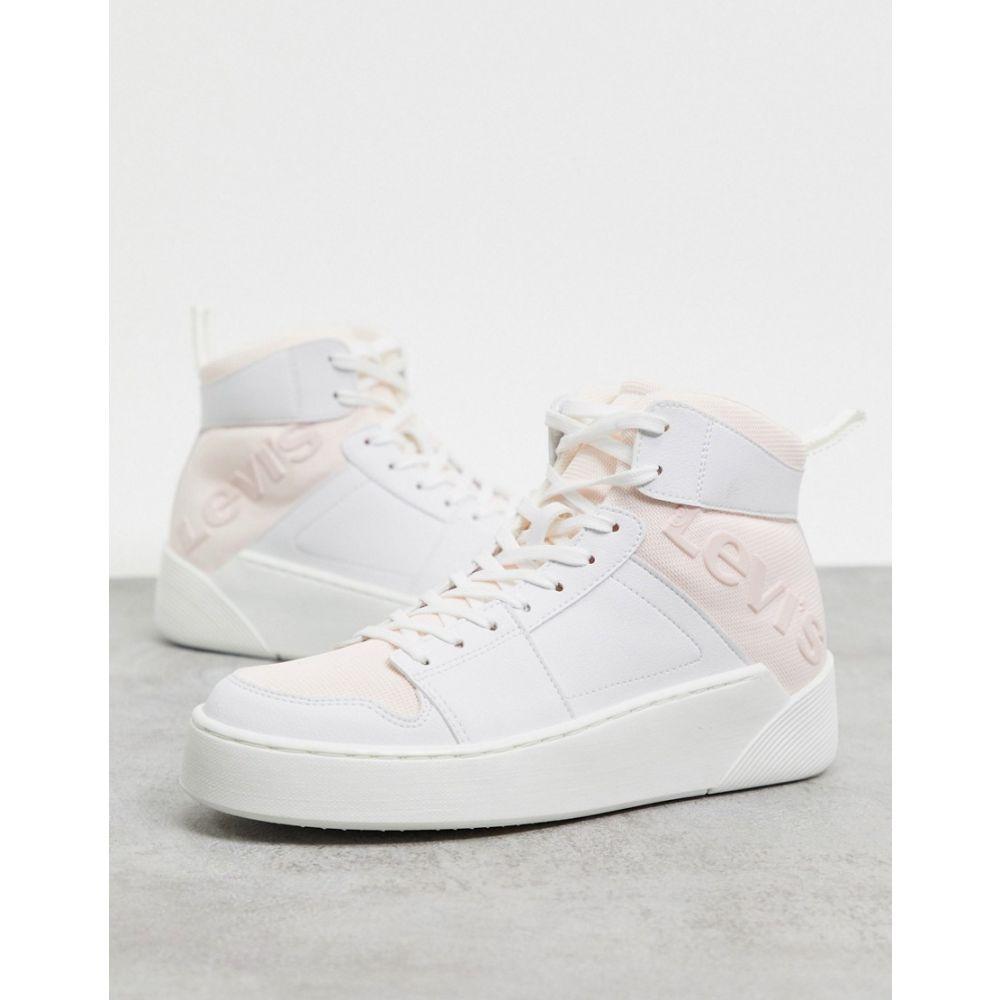 リーバイス Levi's レディース スニーカー チャンキーヒール シューズ・靴【Levi mullet chunky trainers in white】White