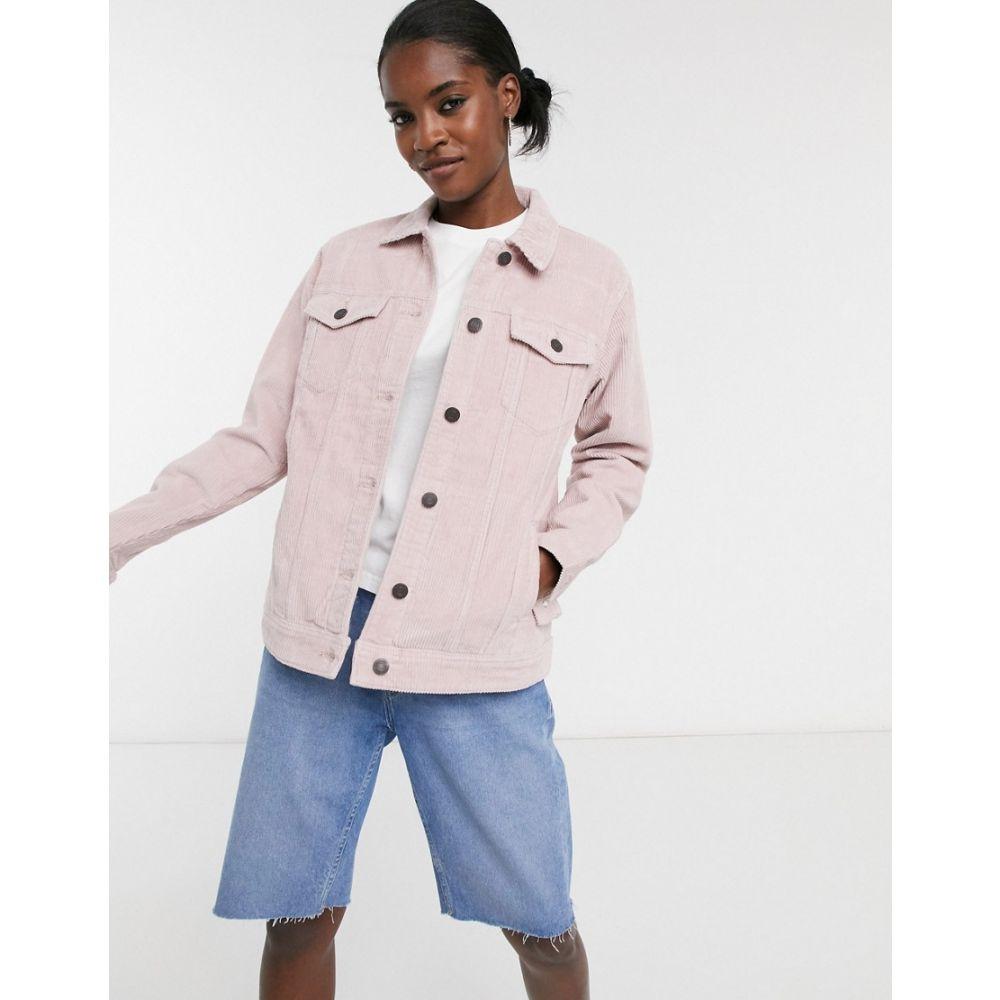 ノイズィーメイ Noisy May レディース ジャケット アウター【cord jacket in dusky pink】Dusky pink