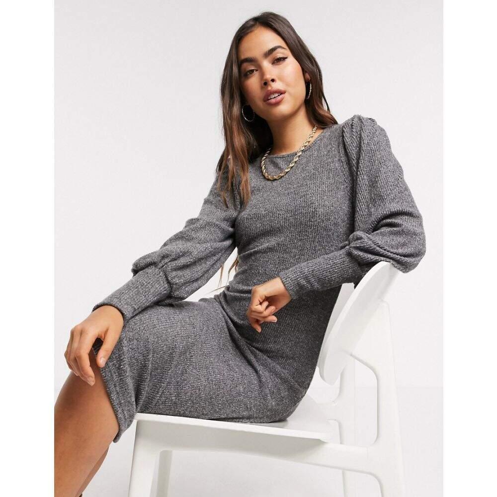 ワイ エー エス Y.A.S レディース ワンピース ミドル丈 ワンピース・ドレス【knitted midi dress with high neck in grey】Dgm