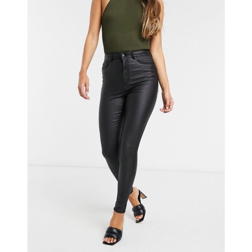 ヴェロモーダ ジーンズ・デニム rise Vero Moda skinny black】Black ボトムス・パンツ【coated in high jeans with レディース