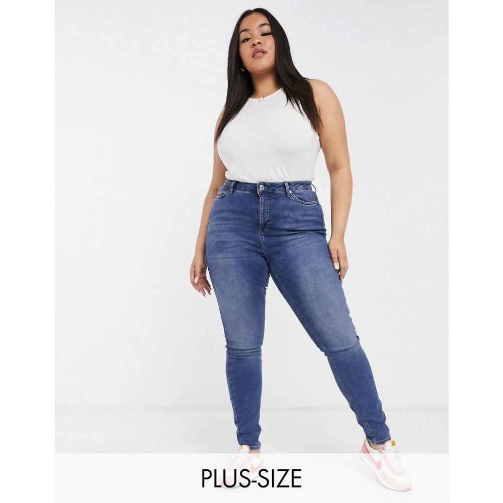 ヴェロモーダ Vero Moda Curve レディース ジーンズ・デニム ボトムス・パンツ【skinny jeans with high waist in indigo】Blue
