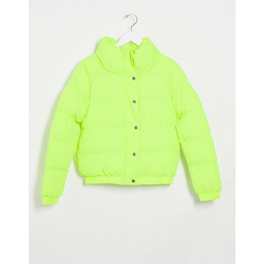 アイソウイットファースト I Saw It First レディース ダウン・中綿ジャケット アウター【oversized padded coat in neon yellow】Yellow