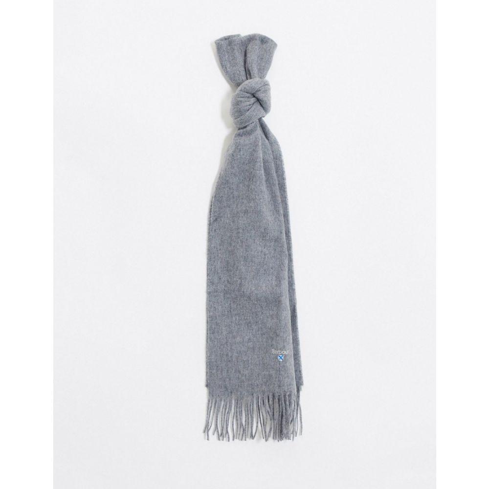 バブアー Barbour メンズ マフラー・スカーフ・ストール 【plain lambswool scarf in grey】Grey