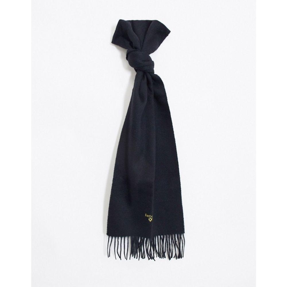 バブアー Barbour メンズ マフラー・スカーフ・ストール 【plain lambswool scarf in black】Black