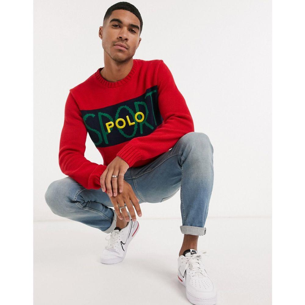 ラルフ ローレン Polo Ralph Lauren メンズ スウェット・トレーナー トップス【Sport graphic sweatshirt in red】Red