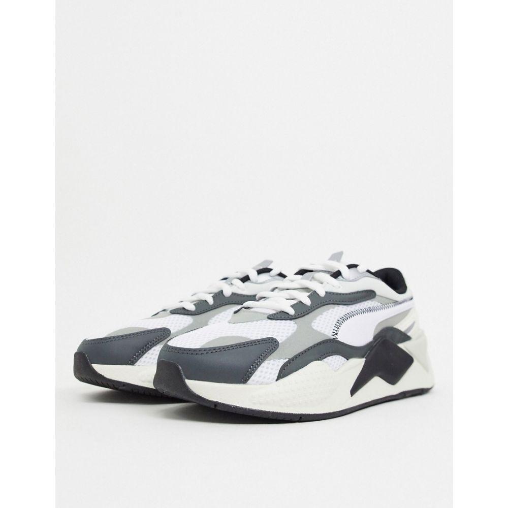 プーマ Puma メンズ スニーカー シューズ・靴【RS-X3 Millenium trainers in grey and black】Puma white-puma blac