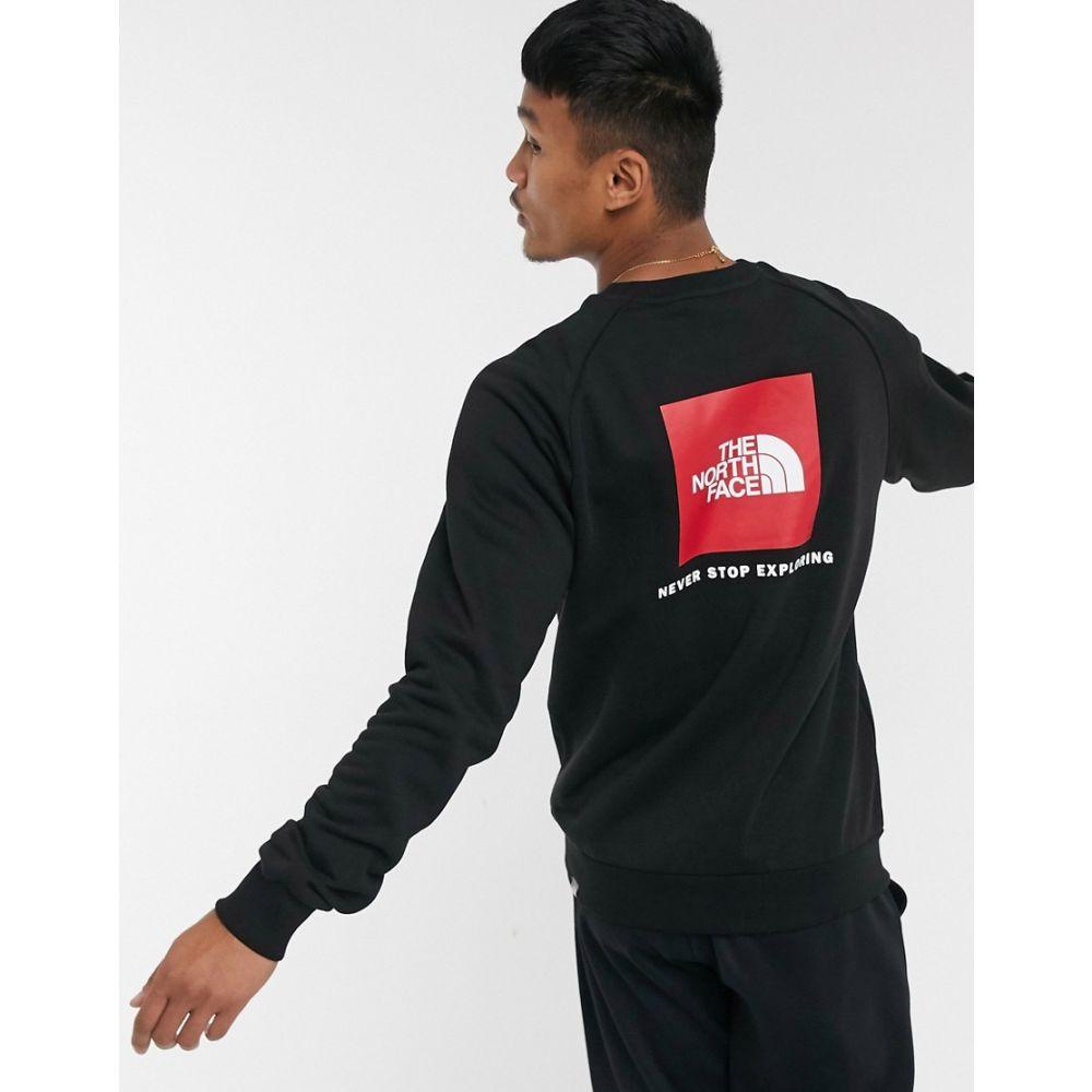 ザ ノースフェイス The North Face メンズ スウェット・トレーナー ラグラン トップス【Raglan Red Box crewneck sweatshirt in black】Tnf black/tnf red