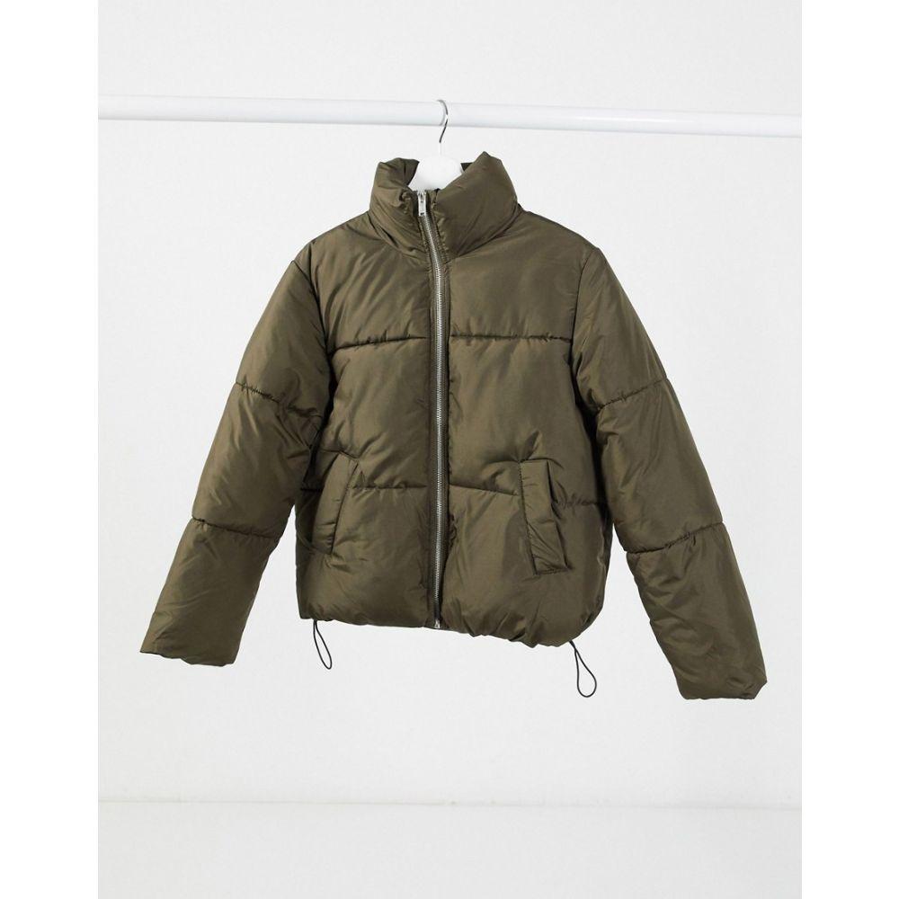 ニュールック New Look レディース ダウン・中綿ジャケット アウター【boxy padded coat in khaki】Khaki