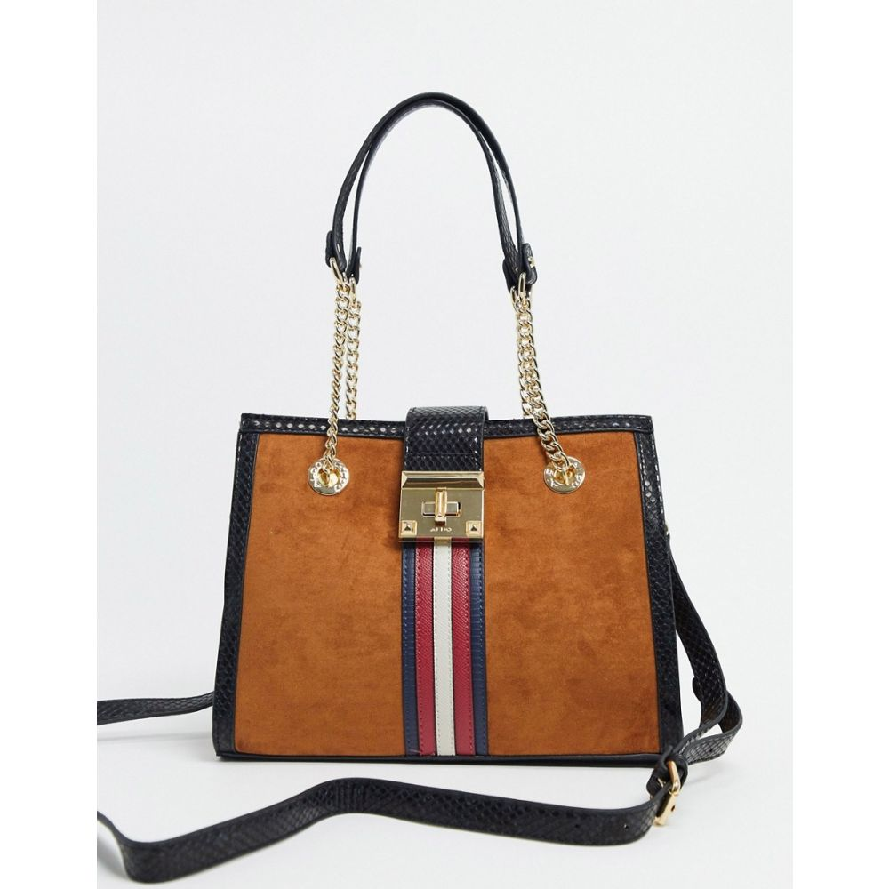 アルド ALDO レディース トートバッグ バッグ【Aldo tote bag with stripe detail in rust】Rust