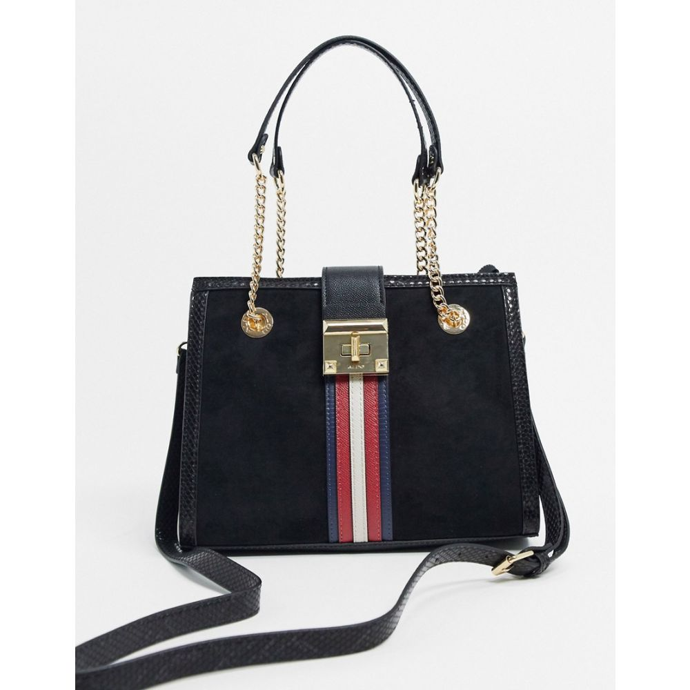 アルド ALDO レディース トートバッグ バッグ【Aldo tote bag with stripe detail in black】Black