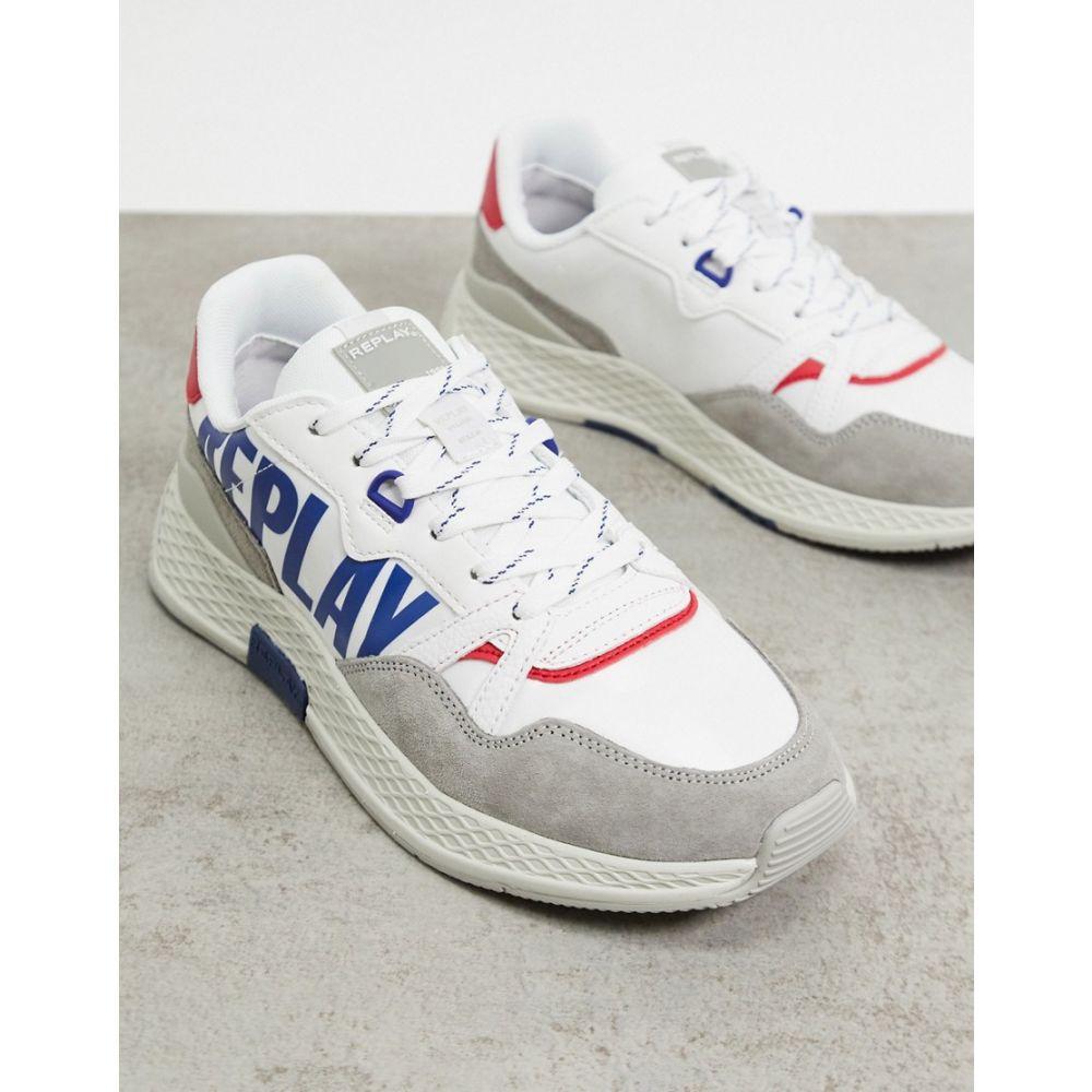 リプレイ Replay メンズ スニーカー シューズ・靴【wellesley logo trainers in white】White
