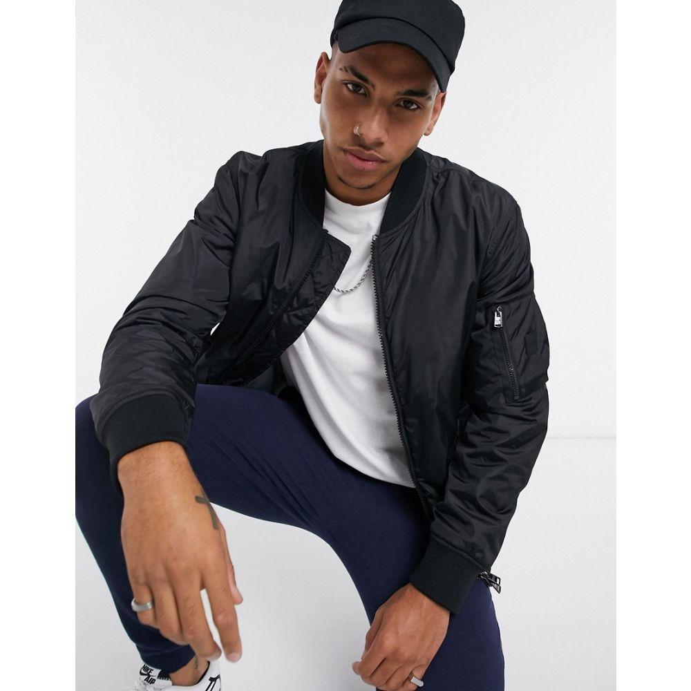 ヒューゴ ボス BOSS メンズ ブルゾン ミリタリージャケット アウター【ceron bomber jacket】Black