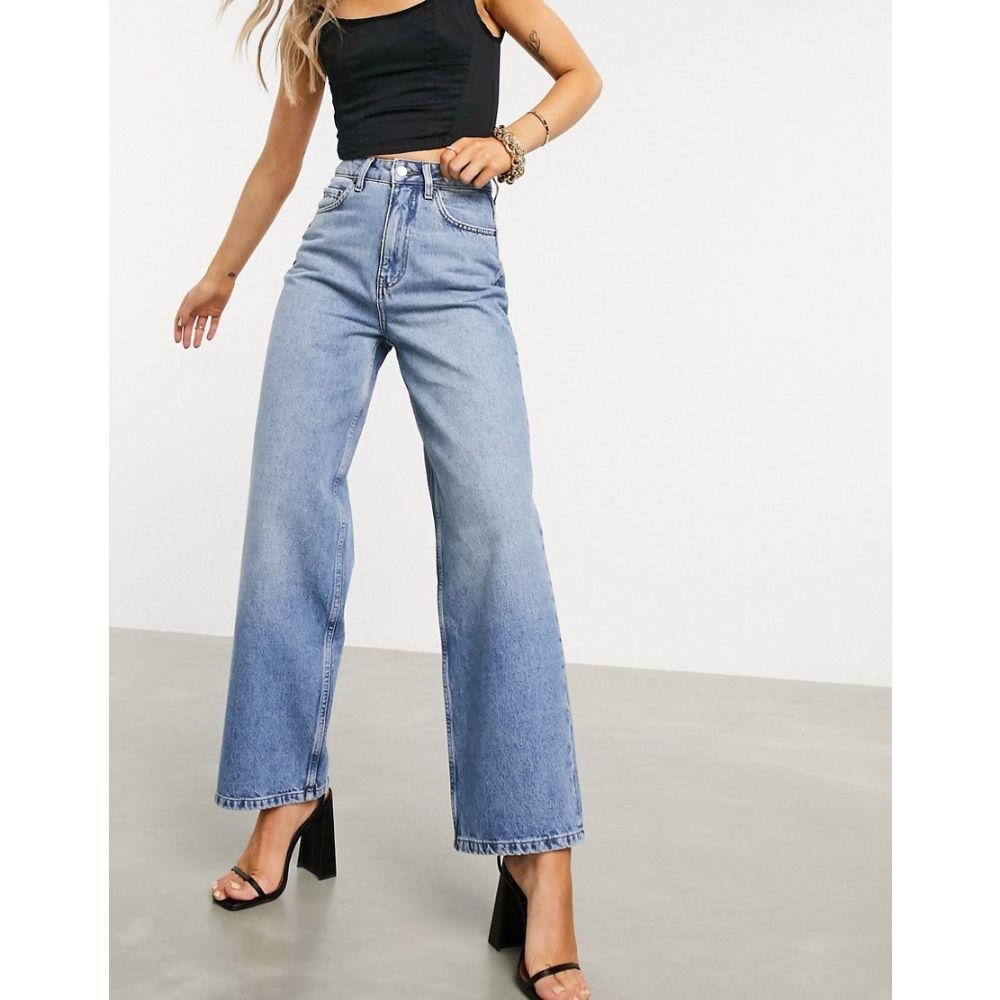エイソス ジーンズ・デニム rise jeans dad wash DESIGN 'relaxed' ボトムス・パンツ【recycled brightwash】Bright high ASOS レディース