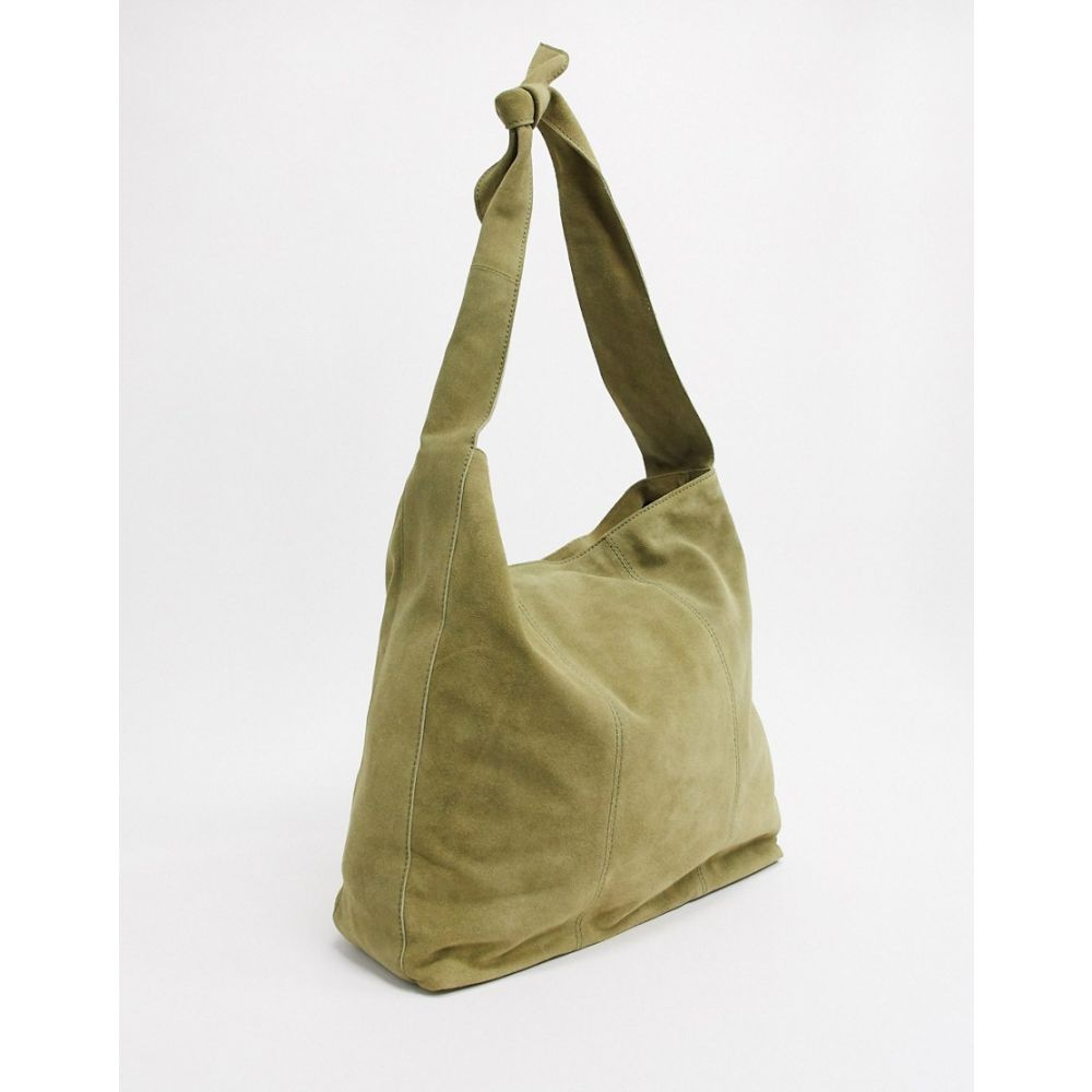 エイソス ASOS DESIGN レディース トートバッグ バッグ【oversized suede shopper in washed khaki】Washed khaki