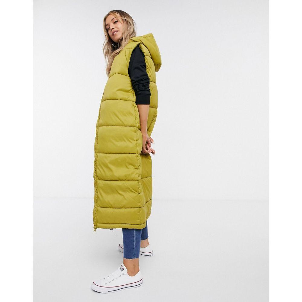 モンキ Monki レディース ダウン・中綿ジャケット アウター【Lizz recycled sleeveless long padded jacket in olive】Green