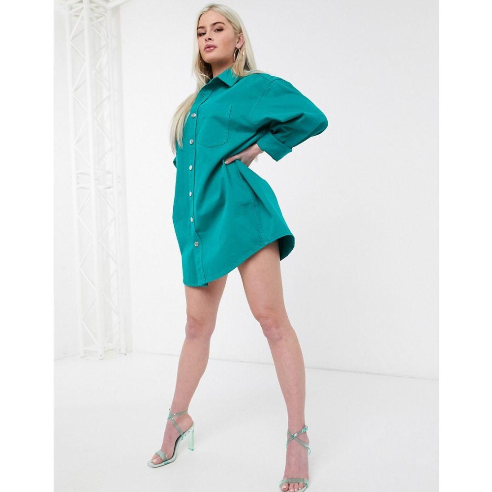 エイソス ASOS DESIGN レディース ワンピース ワンピース・ドレス【oversized green shirt】Green