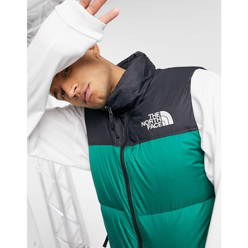 ザ ノースフェイス The North Face メンズ ベスト・ジレ トップス【1996 Retro Nuptse Vest In Green】Evergreen