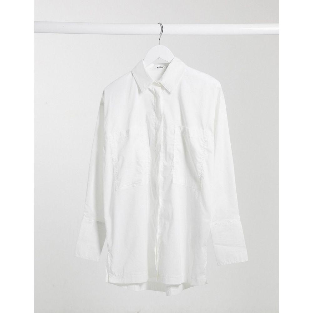 Poplin トップス【Oversized ブラウス・シャツ レディース Missguided ミスガイデッド Shirt White】White In