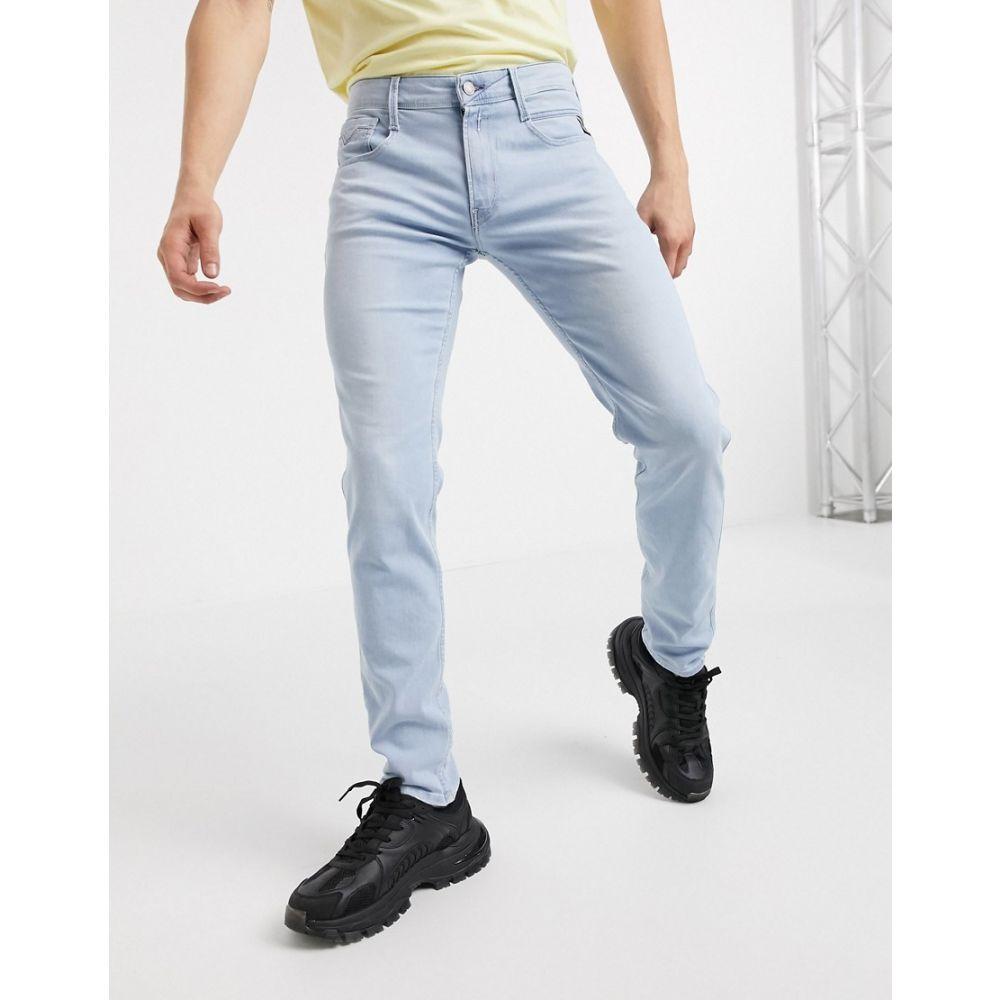 リプレイ Replay メンズ ジーンズ・デニム ボトムス・パンツ【Anbass Slim Fit Jeans In Light Wash】Blue