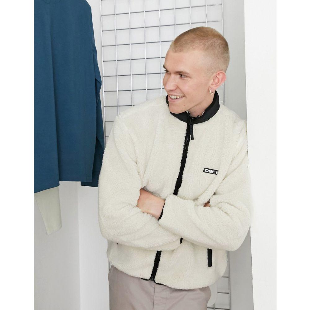 <title>新作からSALEアイテム等お得な商品満載 オベイ メンズ アウター ジャケット Beige サイズ交換無料 Obey Thief Sherpa Jacket</title>