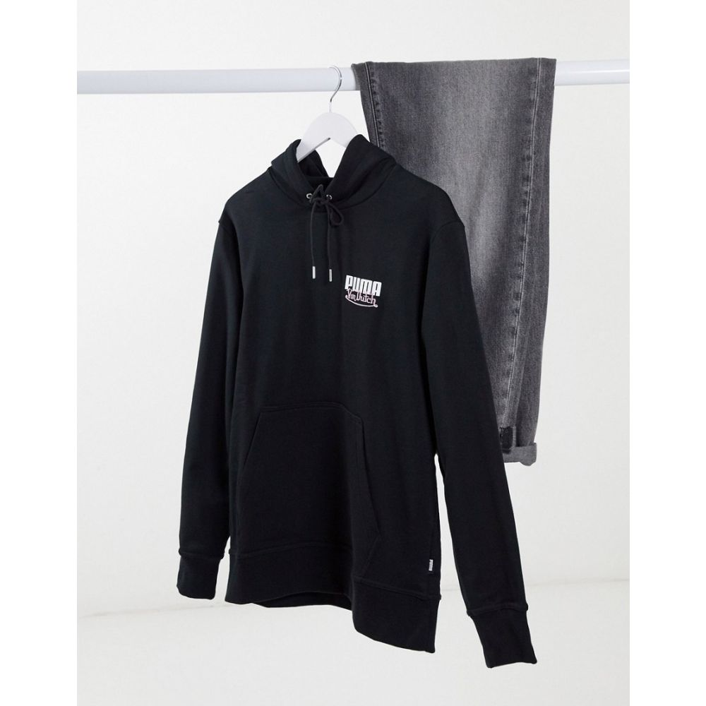 プーマ メンズ トップス パーカー Puma black サイズ交換無料 X 日本正規代理店品 Chest Von 商店 Dutch Small Hoodie In Black Logo