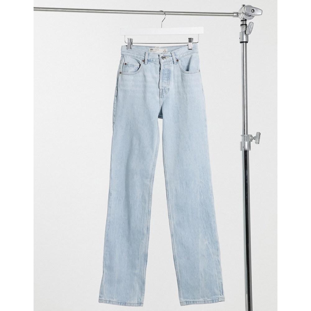エイソス lightwash】Lightwash in rise '90's' jeans レディース straight ASOS ジーンズ・デニム leg DESIGN ボトムス・パンツ【mid