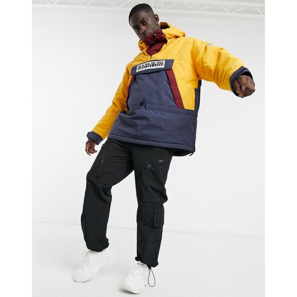 【おトク】 ナパピリ Napapijri メンズ ジャケット アウター【Skidoo overhead jacket in blue/yellow】Blue nights, AromDee 73bd5460