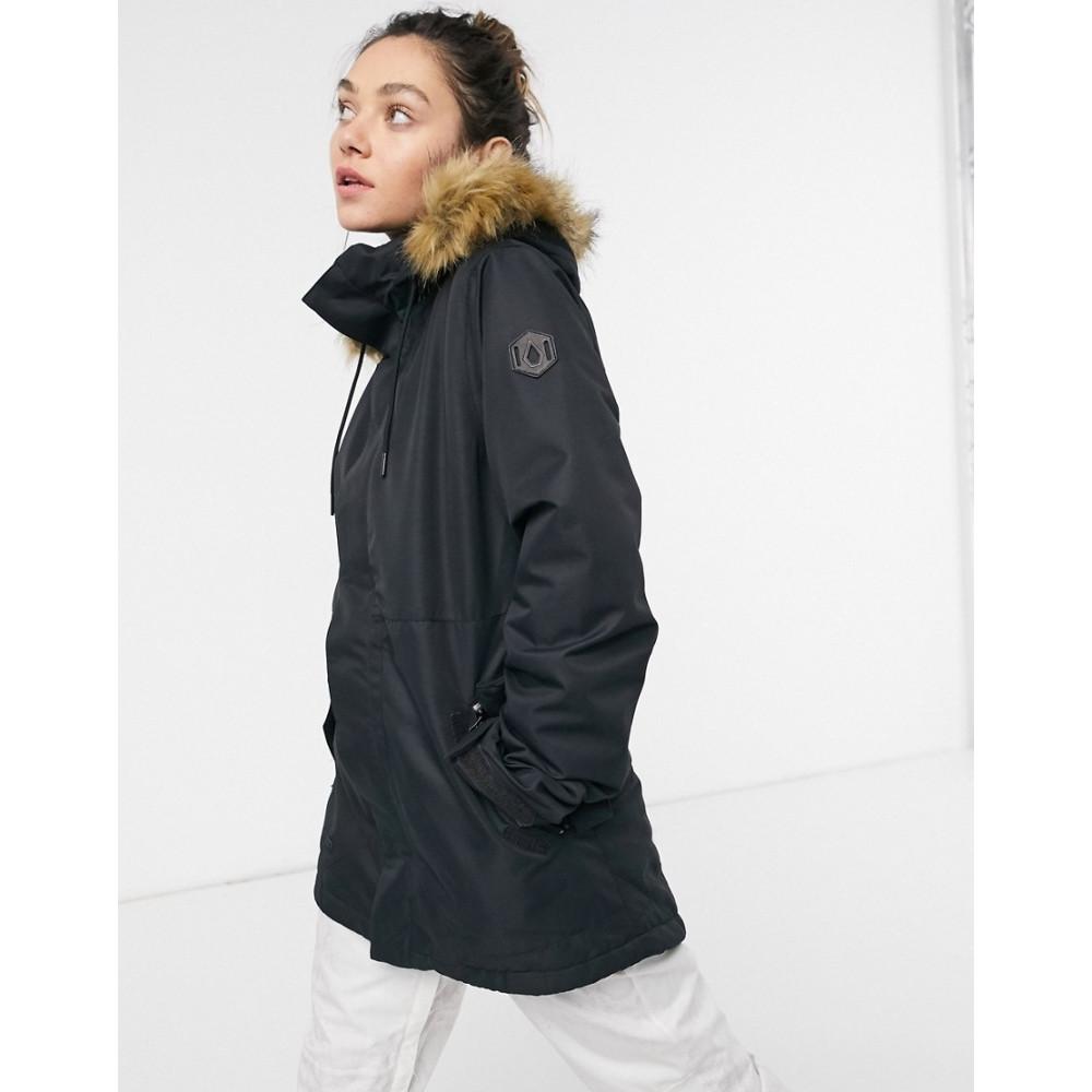 ボルコム レディース スキー スノーボード アウター Black サイズ交換無料 Volcom ジャケット ski Fawn ギフト jacket チープ in black Insulated