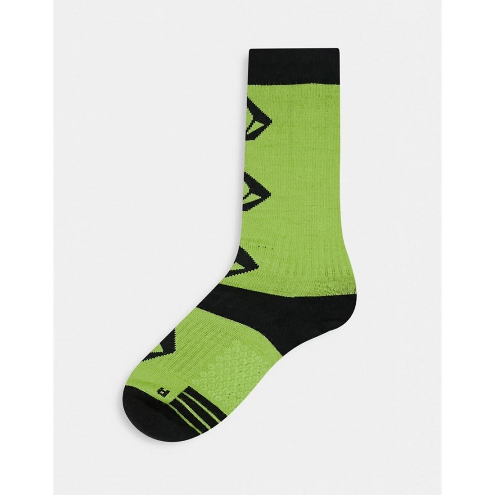 ボルコム レディース インナー 下着 ソックス Yellow Volcom in サイズ交換無料 sock Sherwood green 全国一律送料無料 流行