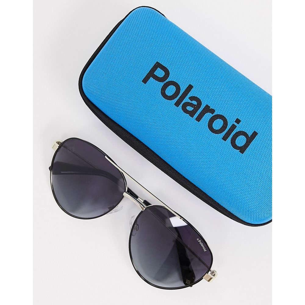 男女兼用 ポラロイド Polaroid レディース メガネ・サングラス アビエイター【Aviator Sunglasses In Gold Frame】Gold, セクトインターナショナル 9fe8dfa4