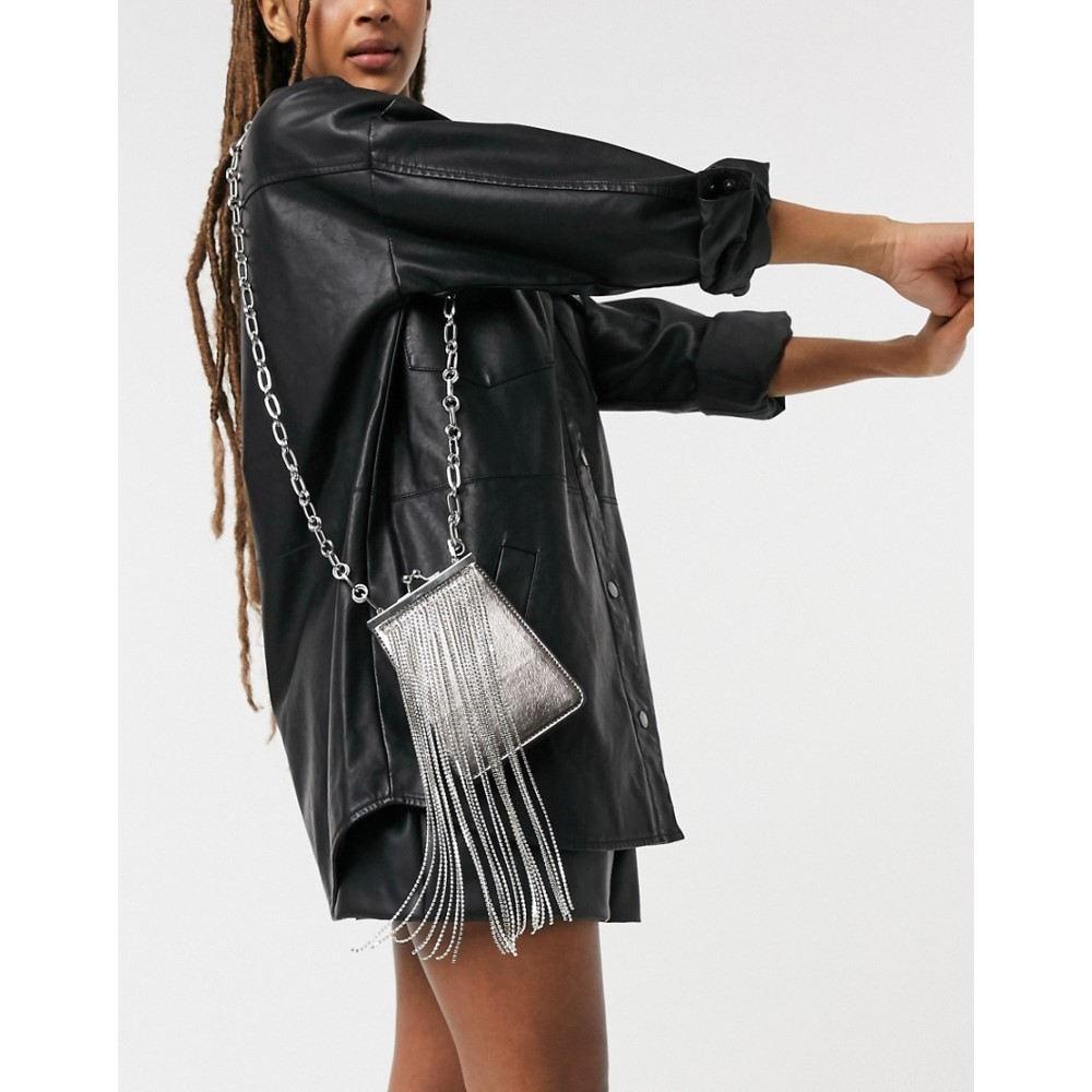最新発見 トップショップ Topshop レディース ショルダーバッグ Metallic バッグ【Diamante Metallic レディース Across Topshop Body Bag In Silver】Silver, キジョウチョウ:80e06782 --- delipanzapatoca.com