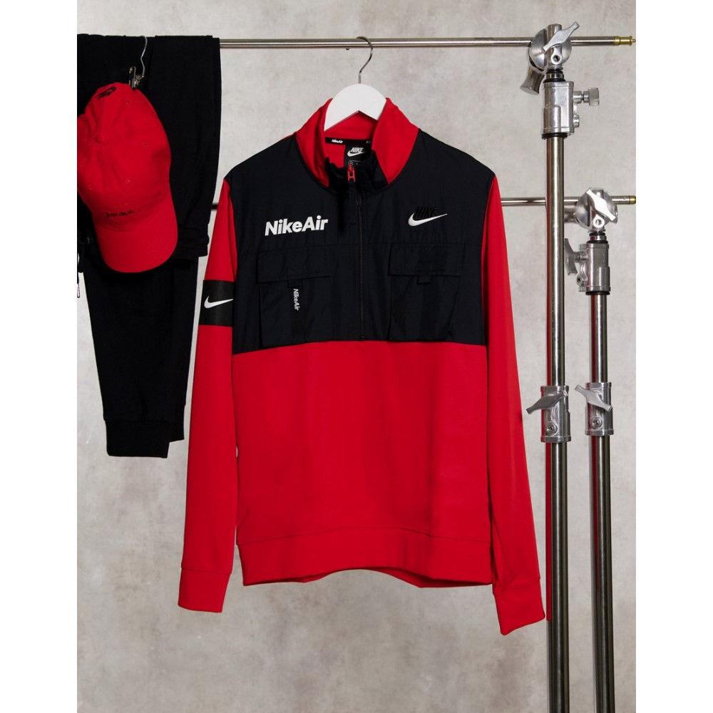 ナイキ メンズ トップス フリース Black 日本全国 送料無料 サイズ交換無料 Nike In 評判 Red Half-Zip Fleece Overhead Air
