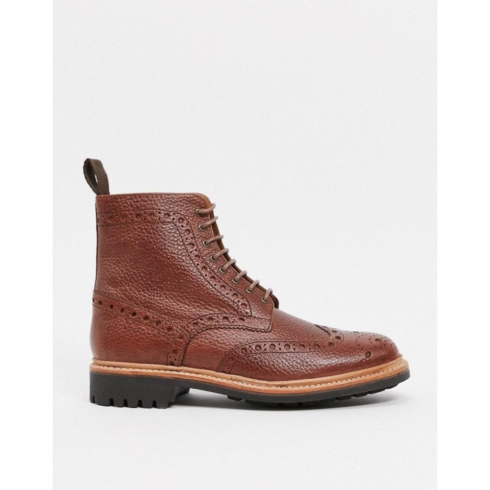 グレンソン メンズ シューズ 靴 ブーツ Tan サイズ交換無料 当店一番人気 入荷予定 Boots Brogue メダリオン In Grenson Fred Grain