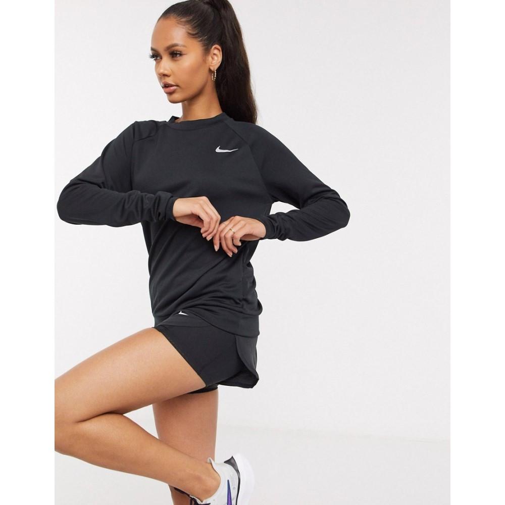 メーカー公式 ナイキ レディース トップス スウェット トレーナー Black サイズ交換無料 pacer long in 完全送料無料 Nike black sleeve Running