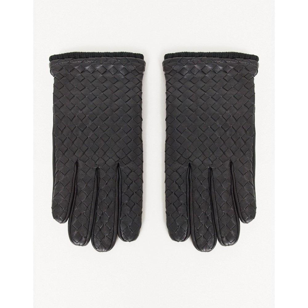 エイソス メンズ ファッション小物 手袋 グローブ Black サイズ交換無料 ASOS DESIGN 豪華な with gloves leather black driving in 全品送料無料 detail texture