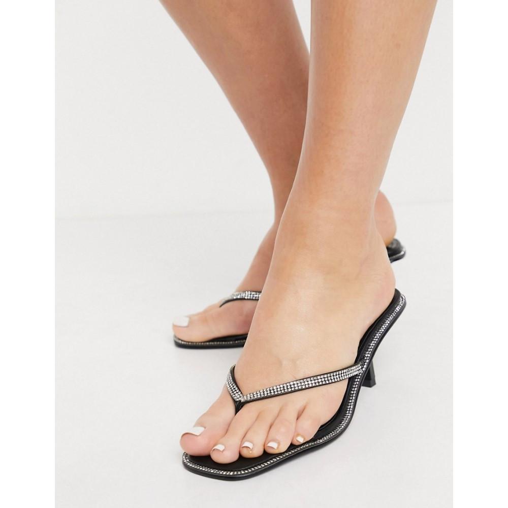 18%OFF グラマラス レディース 超特価SALE開催 シューズ 靴 ビーチサンダル Black サイズ交換無料 Glamorous Embellished Sandals Flip Flop In