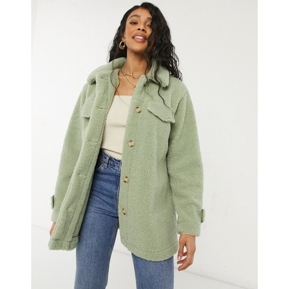 スリードベア Threadbare レディース コート アウター【kaila borg shirt style coat in sage】Sage