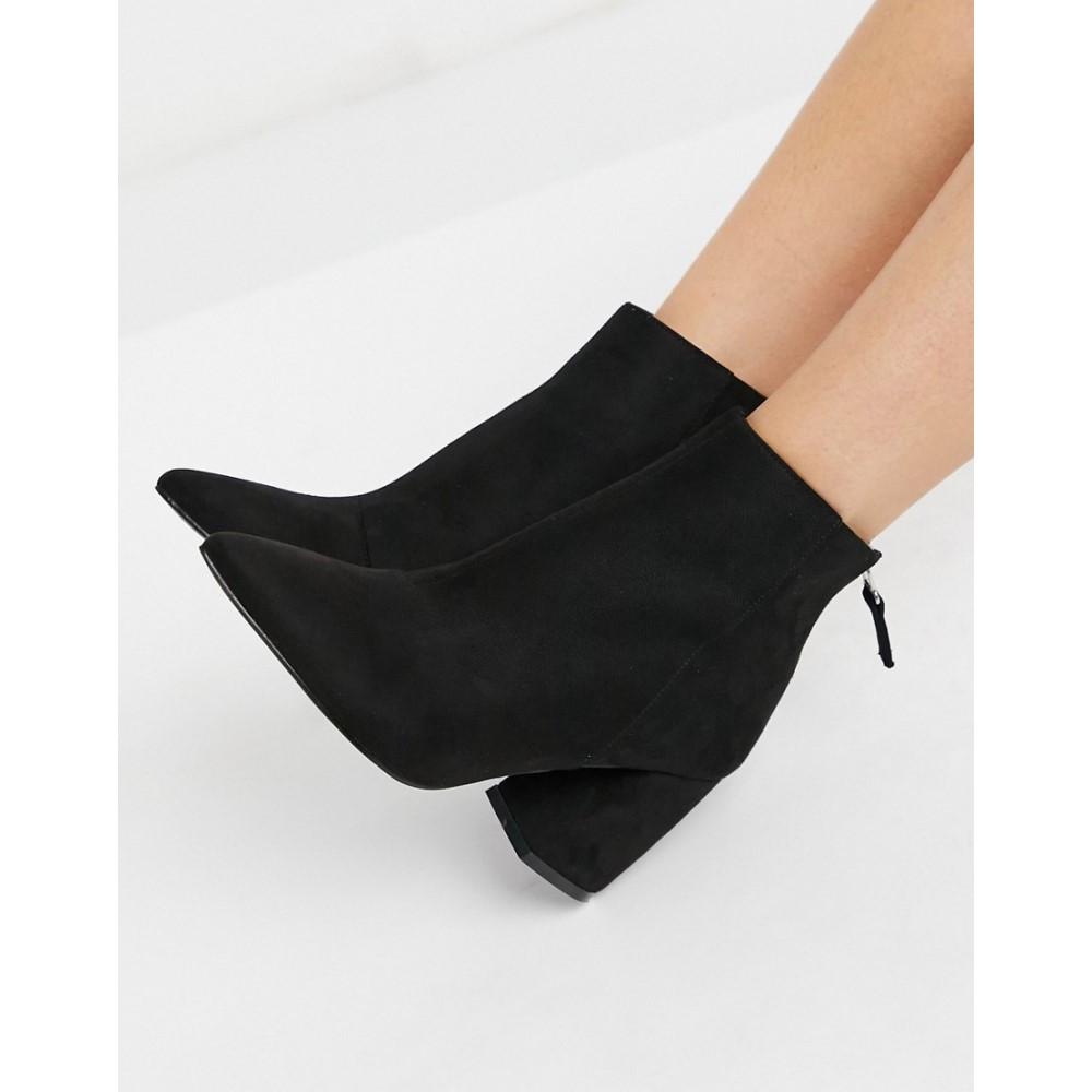 レイド レディース シューズ 靴 ブーツ Black micro サイズ交換無料 ショートブーツ In Heeled Wynter 返品不可 Raid Boots Ankle 年間定番